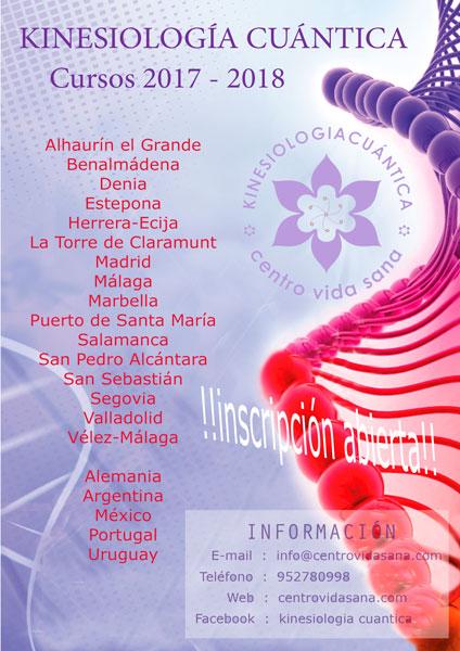 Cursos disponibles de Kinesiología Cuántica